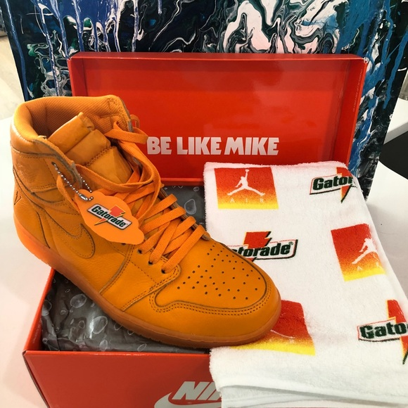 9535b0aa701 Nike Air Jordan Orange Gatorade 1 Retro High OG